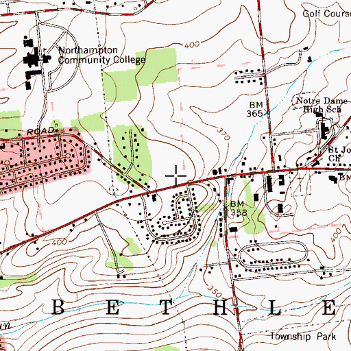 Topographic Map of Bethlehem Township Police Department, PA