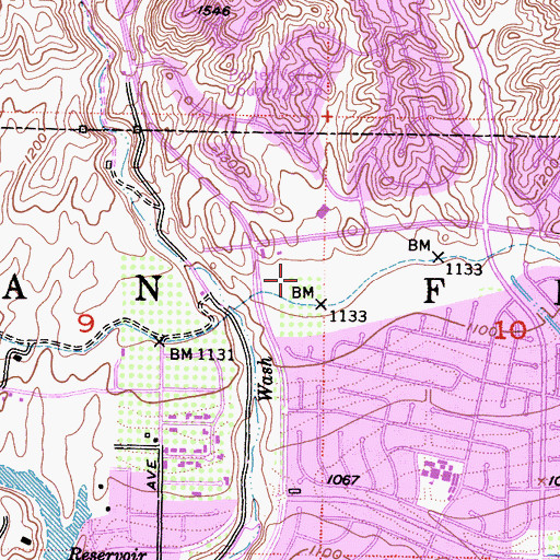 Topographic Map of Ranch Post Office, CA