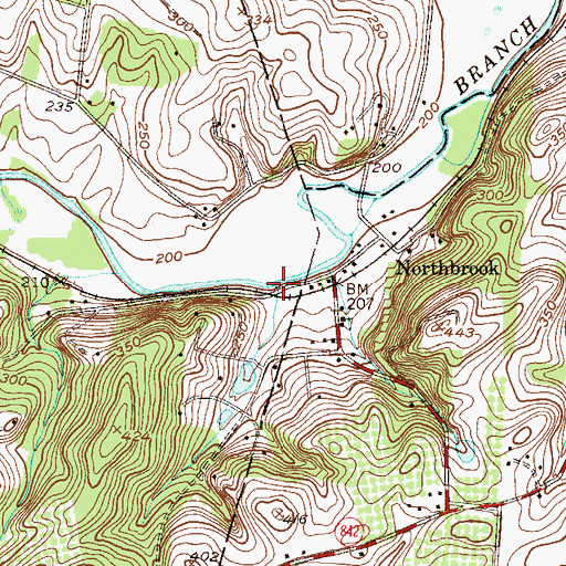 Topographic Map of Indian Hannah Run, PA