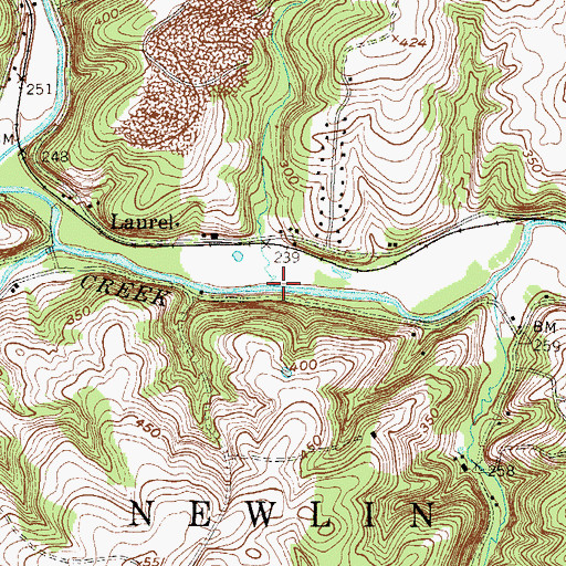Topographic Map of Station Creek, PA