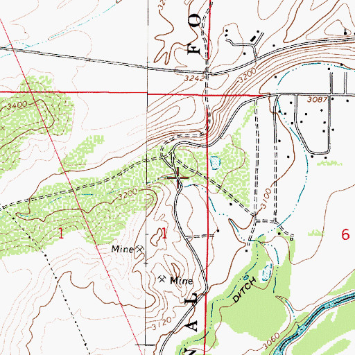 Topographic Map of Copper Canyon, AZ