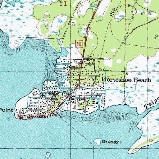 Map Of Horseshoe Beach Florida Horseshoe Beach, FL
