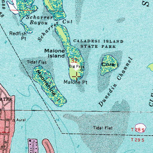 Topographic Map of Malone Point, FL
