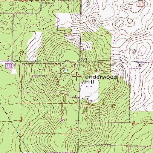 Topographic Map of Underwood Hill, FL