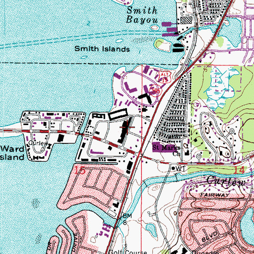 Topographic Map of Scottish Village Shopping Center, FL