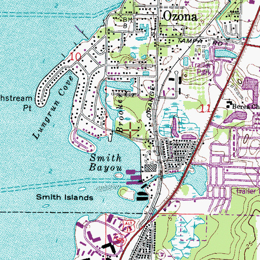 Topographic Map of Point Plaza, FL