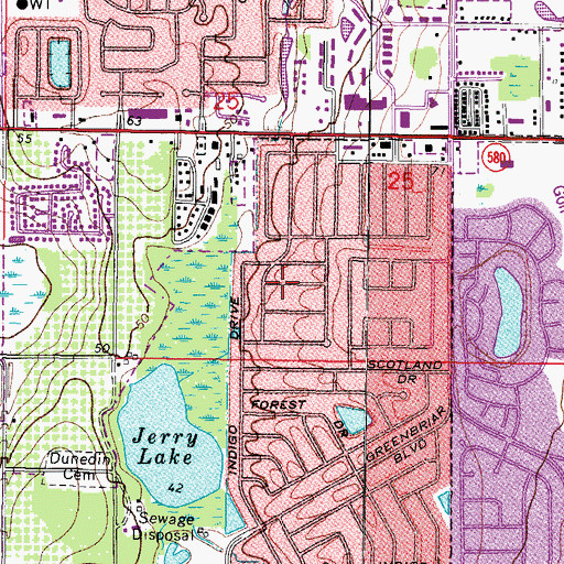 Topographic Map of Open Door School, FL