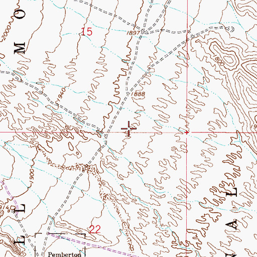 Topographic Map of McDowell Mountain Regional Park, AZ