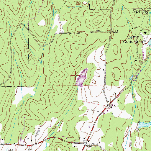 Topographic Map of Horton Dam, GA