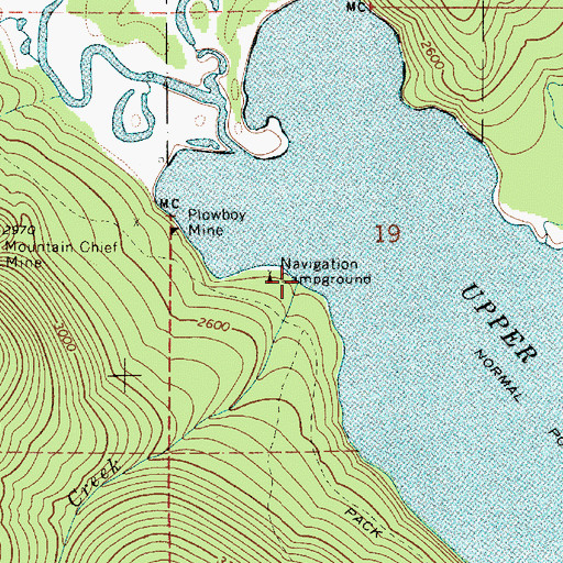 Topographic Map of Deadman Creek, ID