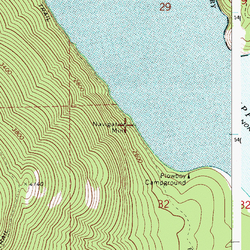 Topographic Map of Navigation Mine, ID