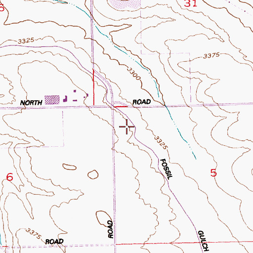 Topographic Map of Fossil Gulch Canal, ID
