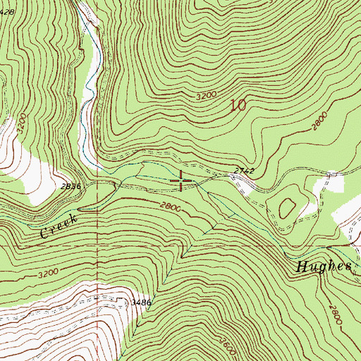 Topographic Map of Gold Creek, ID