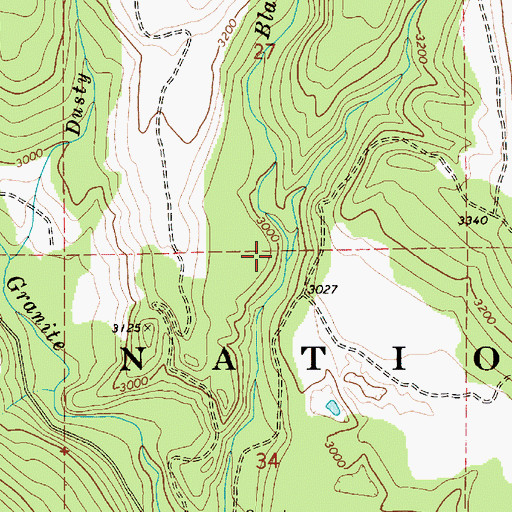 Topographic Map of Jost Creek, ID