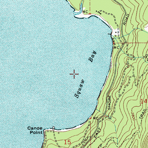 Topographic Map of Squaw Bay, ID