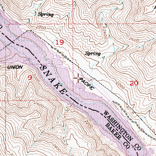 Topographic Map of Blakes Junction, ID