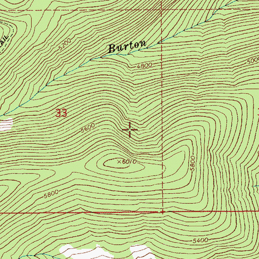 Topographic Map of Boundary County, ID