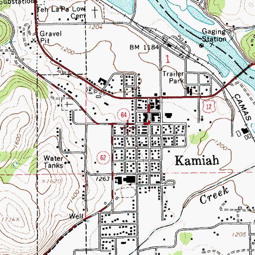 Kamiah Fire Map.Kamiah Id