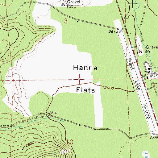 Topographic Map of Hanna Flats, ID