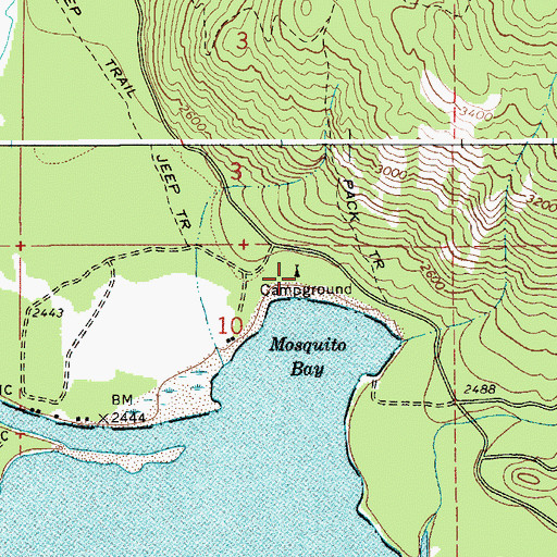 Topographic Map of Priest Lake State Park Lionhead Unit, ID