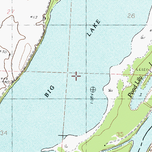 Topographic Map of Big Lake, IL