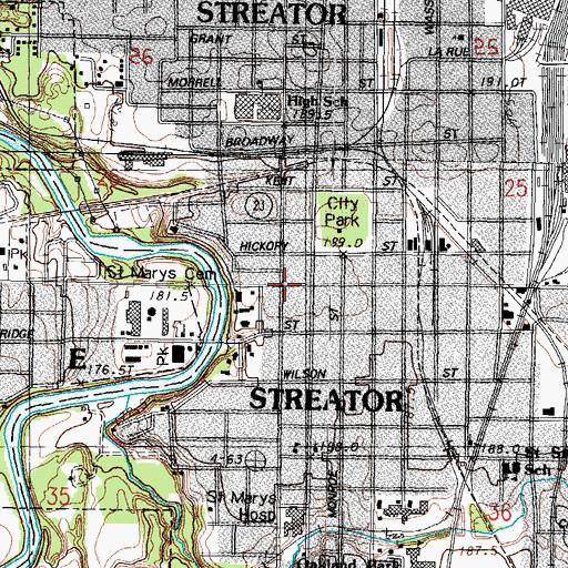 Streator Illinois Map.Streator Il