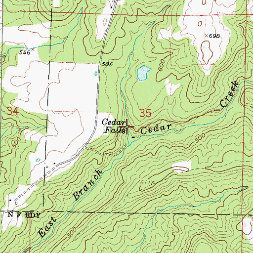 topographical maps of illinois. Topographic Map of Cedar Falls