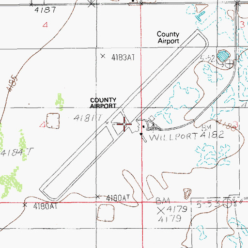 Topographic Map of Cochise County Airport, AZ