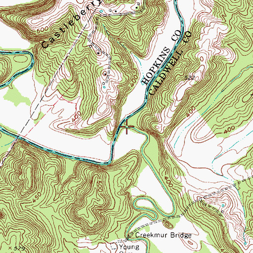 Topographic Map of Flynn Fork, KY
