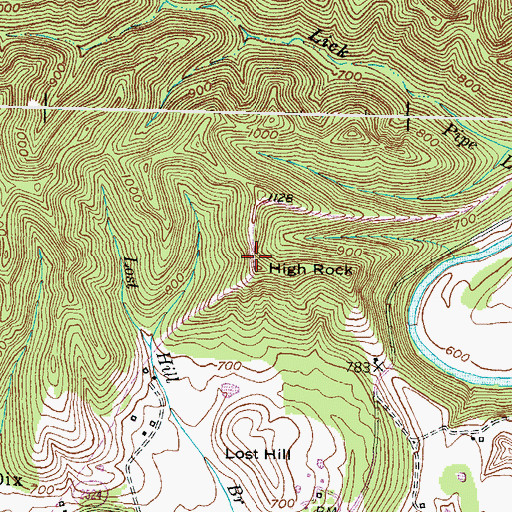 Topographic Map of High Rock, KY