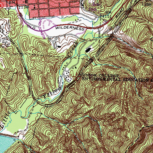 Topographic Map of Union College Environmental Education Center, KY