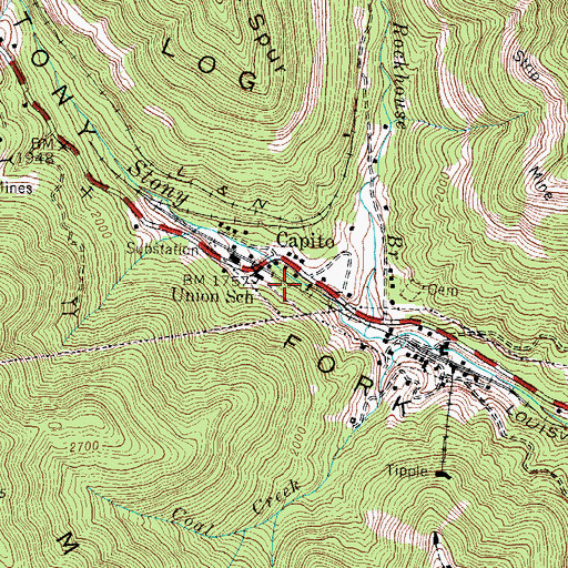 Topographic Map of Union School, KY