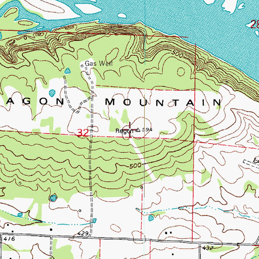 Topographic Map of Ragon Mountain, AR