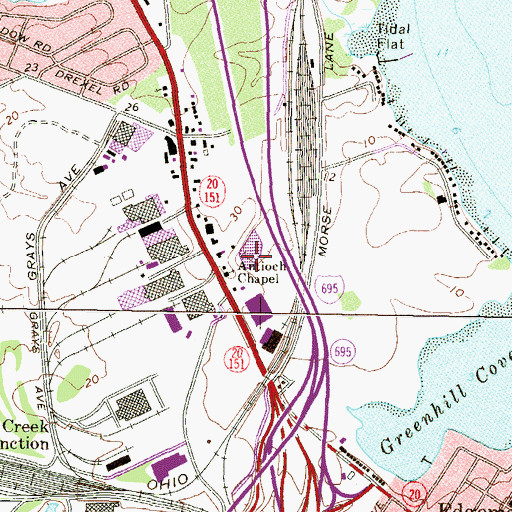Topographic Map of Antioch Chapel, MD