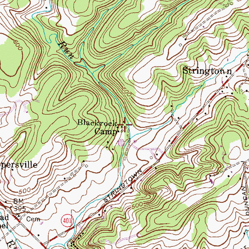 Topographic Map of Blackrock Camp, MD