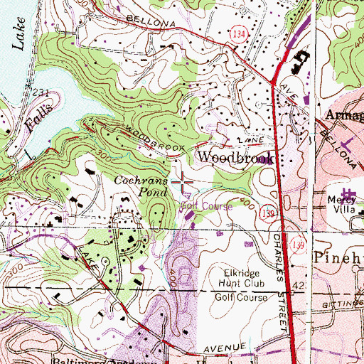 Topographic Map of Cochrans Pond, MD