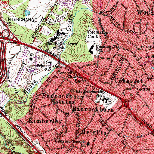Topographic Map of Concord Church, MD