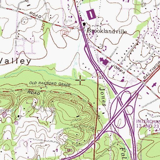 Topographic Map of Deep Run, MD