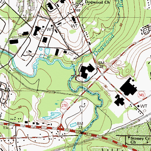 Topographic Map of Dogwood Run, MD