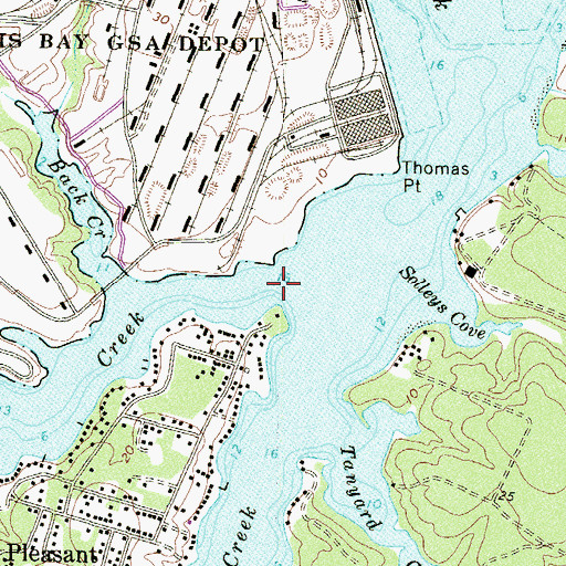 Topographic Map of Furnace Creek, MD