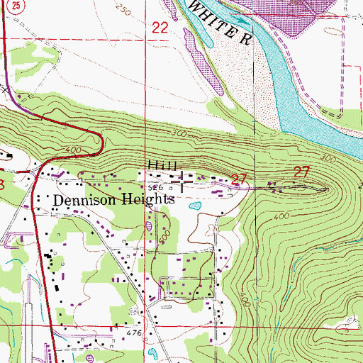Topographic Map of Ramsey Hill, AR