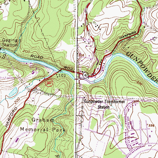 Topographic Map of Jennifer Branch, MD