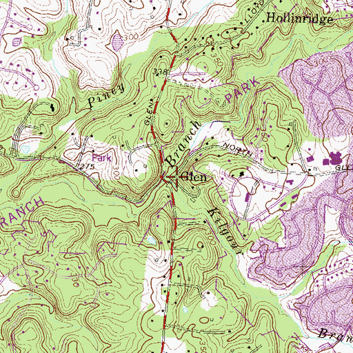 Topographic Map of Kilgour Branch, MD