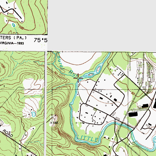 Topographic Map of Laurel Run, MD
