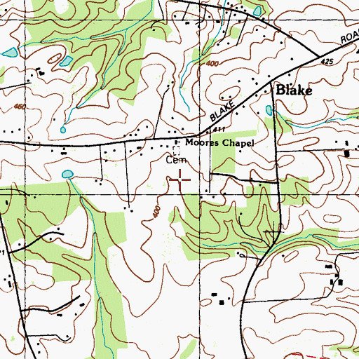 Topographic Map of Moores Chapel, MD