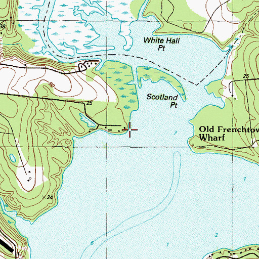 Topographic Map of Scotland Point, MD