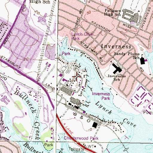 Topographic Map of Chesterwood, MD