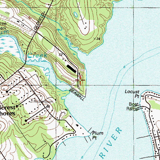 Topographic Map of Elk Haven, MD