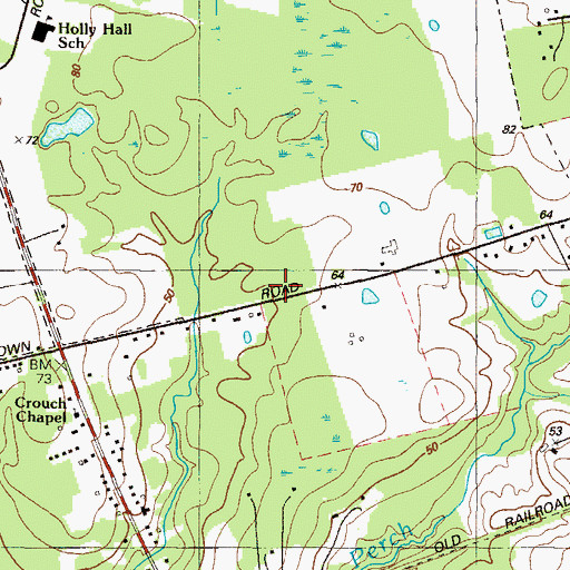 Topographic Map of Hickory Run School (historical), MD