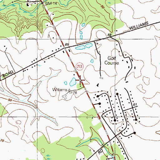 Topographic Map of Hill School (historical), MD
